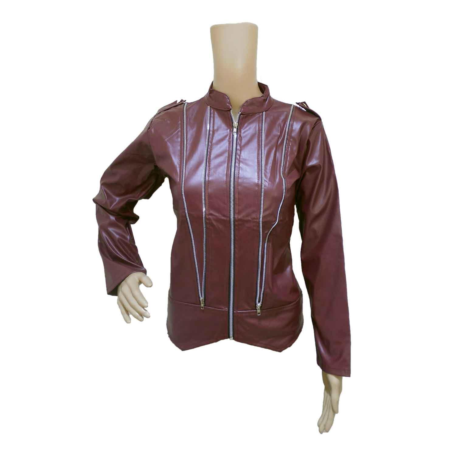 LADIE'S JACKET -1 WINE FREE SIZE