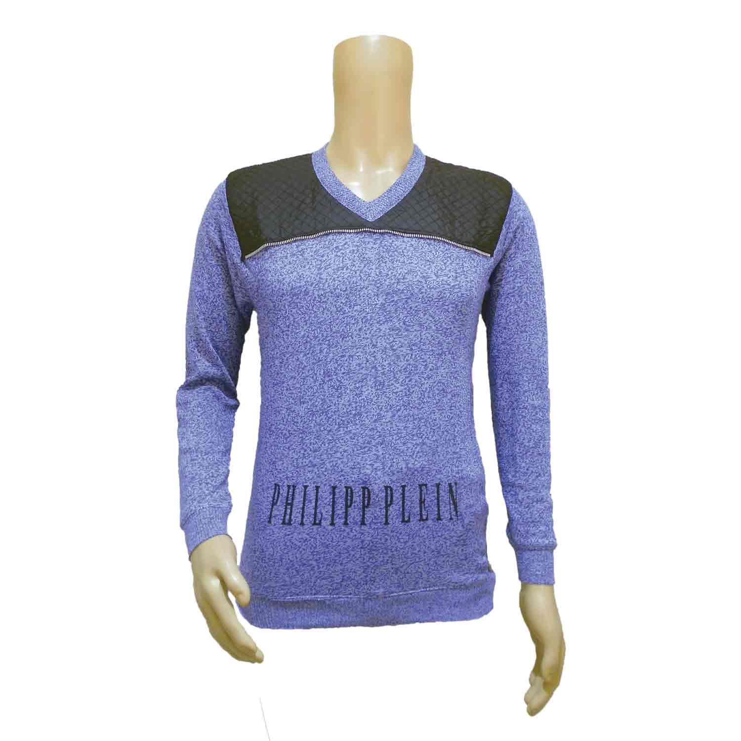 MEN'S SWEATER PHP P BLUE-WHITE