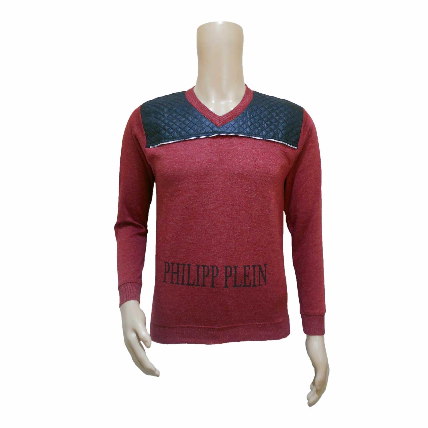 MEN'S SWEATER PHP P RED FREE SIZE