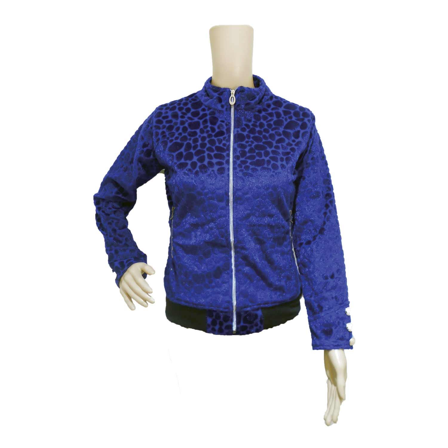 LADIE'S MISFIT JACKET VELVET BLUE